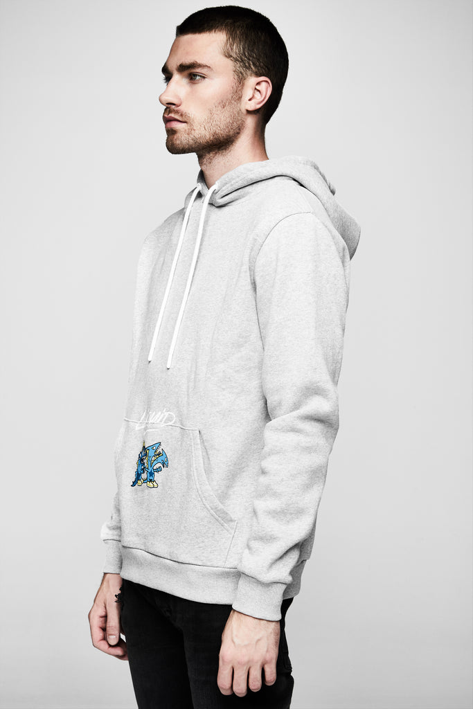 TOKIDOKI x LIQUID DRAGON GAMERS SWEATSHIRT - GREY HEATHER - Team Liquid