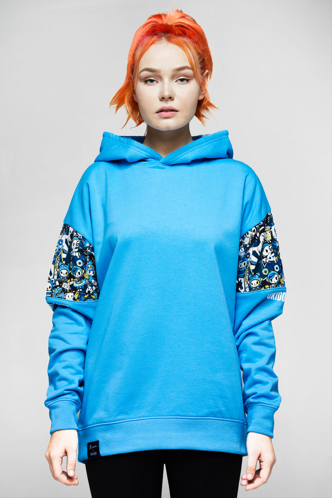 TOKIDOKI x LIQUID SLEEVE INSET HOODIE - BLUE - Team Liquid