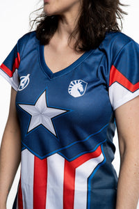 LIQUID x MARVEL Women's Captain America Jersey