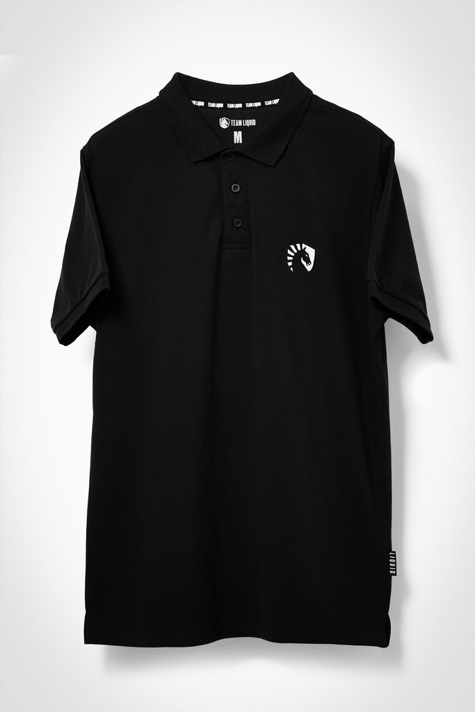 LIQUID HERITAGE SHORT SLEEVE POLO - BLACK - Team Liquid