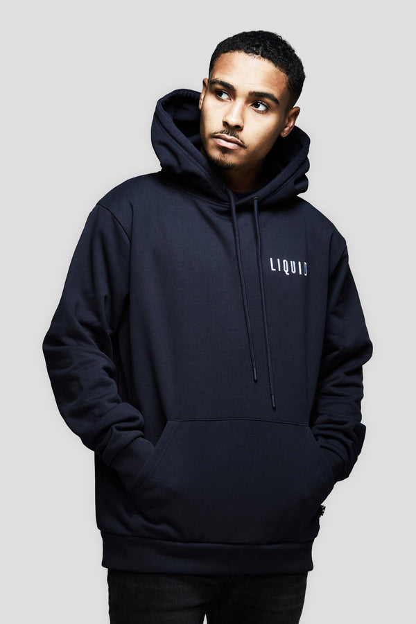 LIQUID CHENILLE HOODIE - NAVY - Team Liquid
