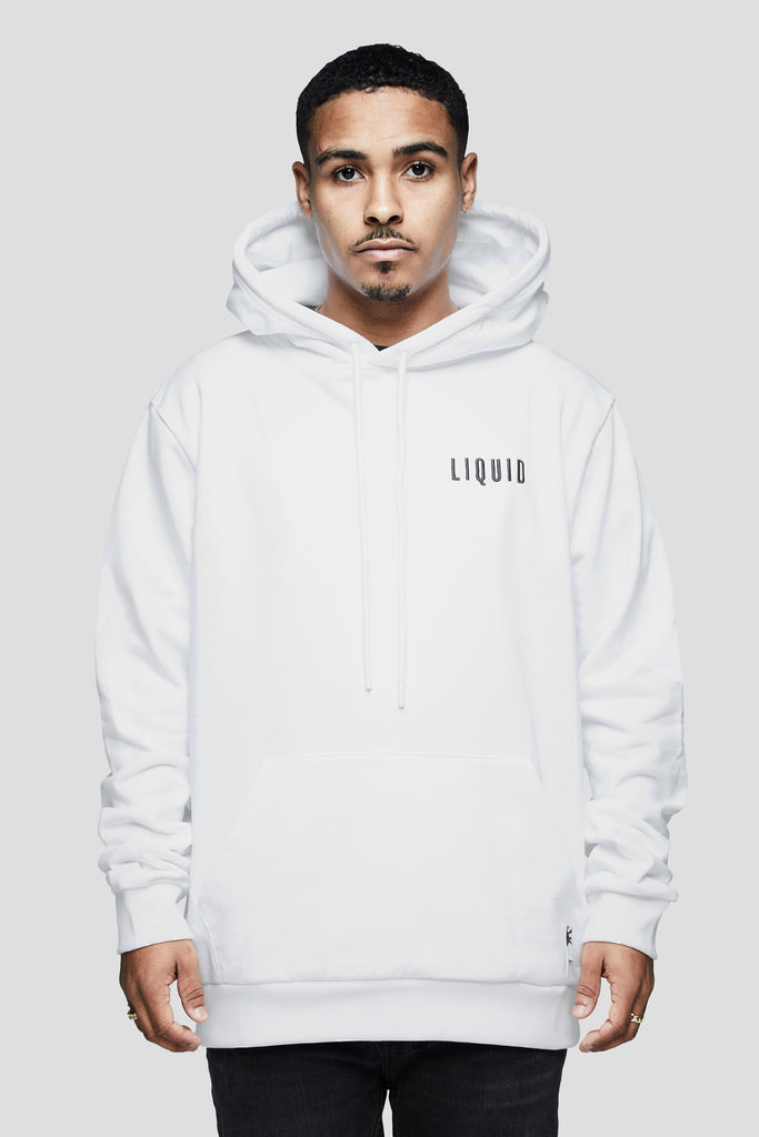 LIQUID CHENILLE HOODIE - WHITE - Team Liquid