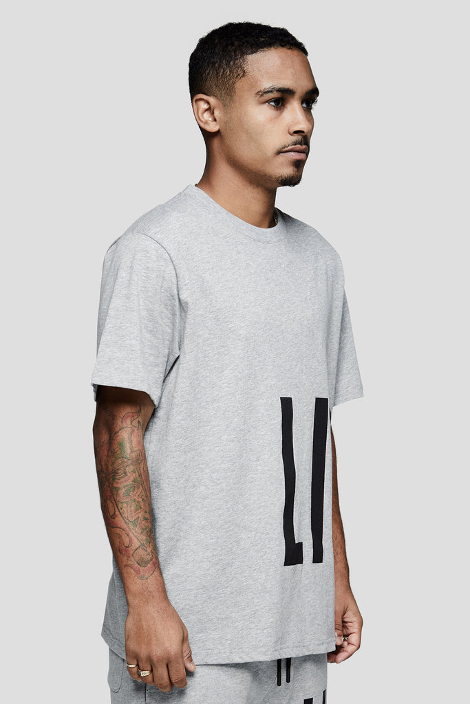 OVERSIZED WORDMARK SHORT SLEEVE TEE - GREY HEATHER - Team Liquid