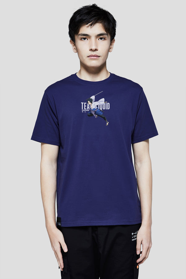 LIQUID x NARUTO SASUKE SHORT SLEEVE TEE (PRE-ORDER) - Team Liquid