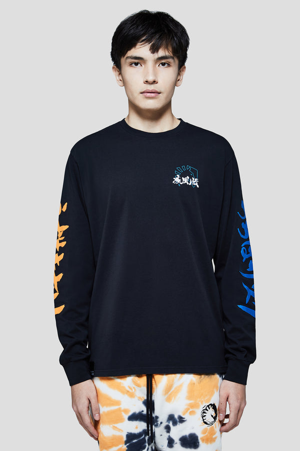 LIQUID x NARUTO VERSUS LONG SLEEVE TEE - BLACK (PRE-ORDER) - Team Liquid