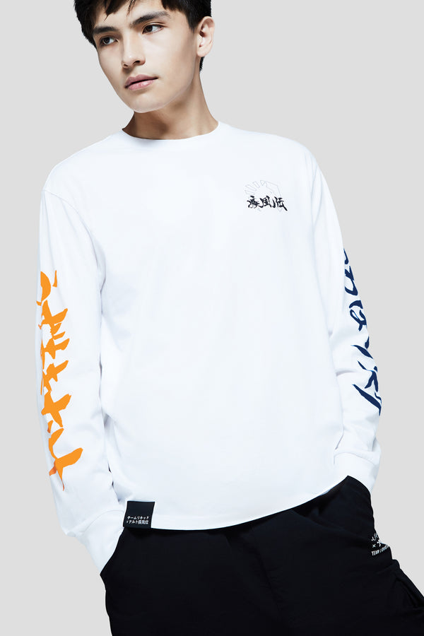 LIQUID x NARUTO VERSUS LONG SLEEVE TEE - WHITE (PRE-ORDER) - Team Liquid