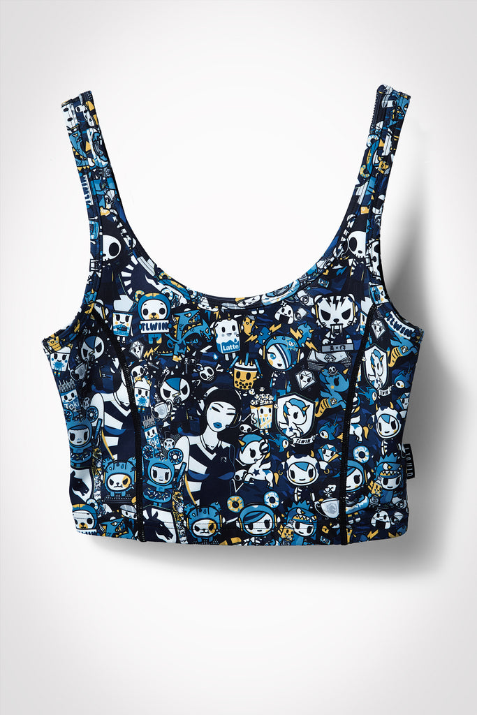 TOKIDOKI x LIQUID WOMENS CROPPED ATHLETIC TANK TOP - MULTI - Team Liquid