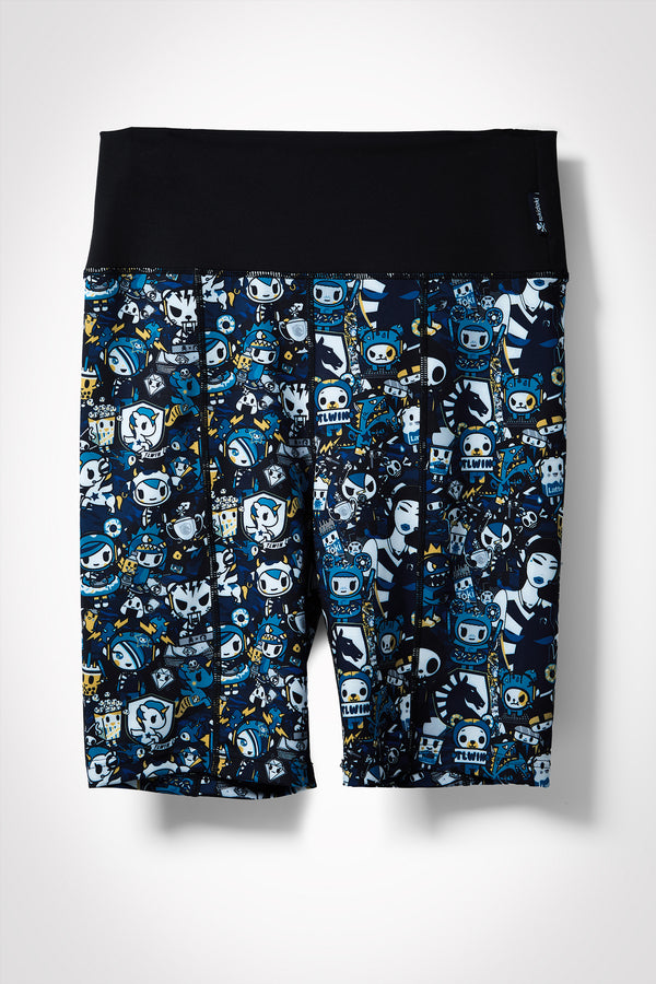 TOKIDOKI x LIQUID WOMENS ATHLETIC PATTERN BIKE SHORTS - MULTI - Team Liquid