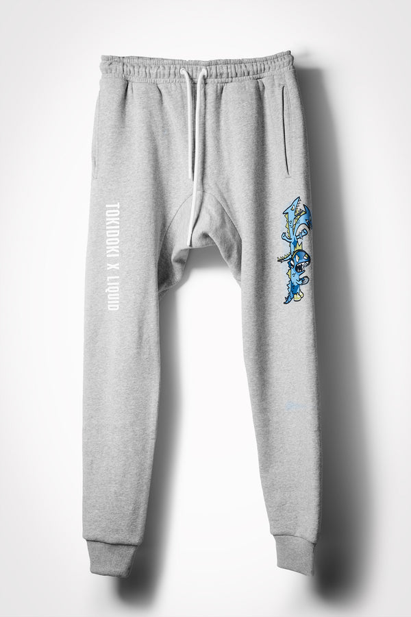 TOKIDOKI x LIQUID DRAGON GAMERS SWEATPANTS - GREY HEATHER - Team Liquid