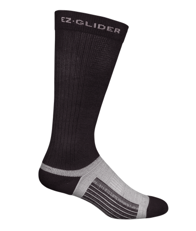 "12"" Synthetic Knit 10-12 Compression 3-in-1 Socks with EZ Glide"