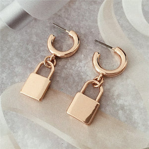 padlock earrings