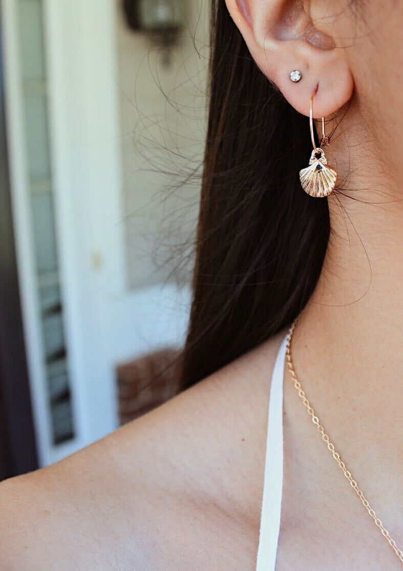 seashell hoops