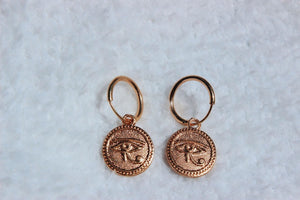 gold egyptian eye hoops