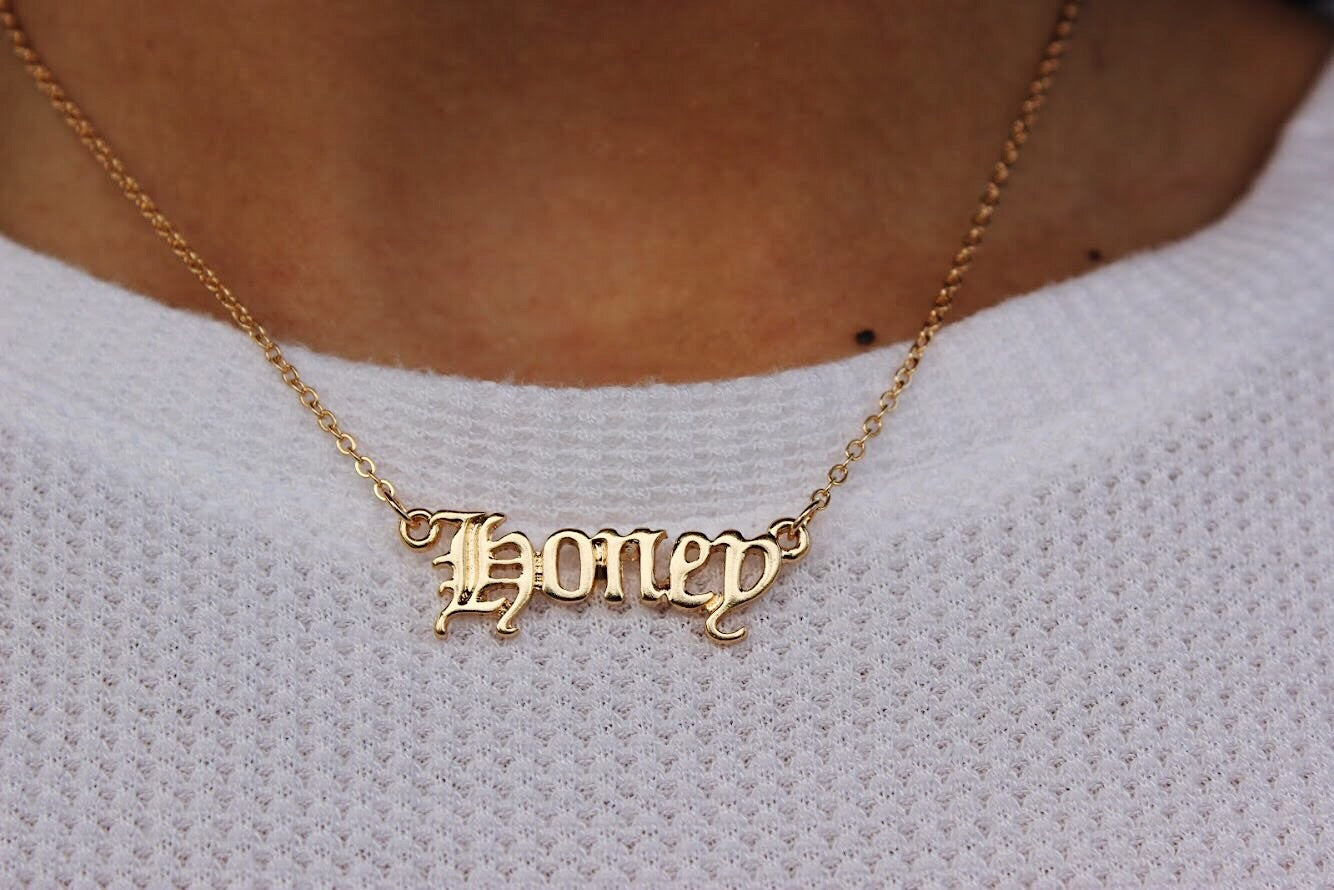 vintage honey necklace
