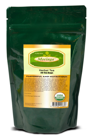 Moringa 30 Dip Tea bags for wholesale. Cases of 6 Packs and 12 Packs