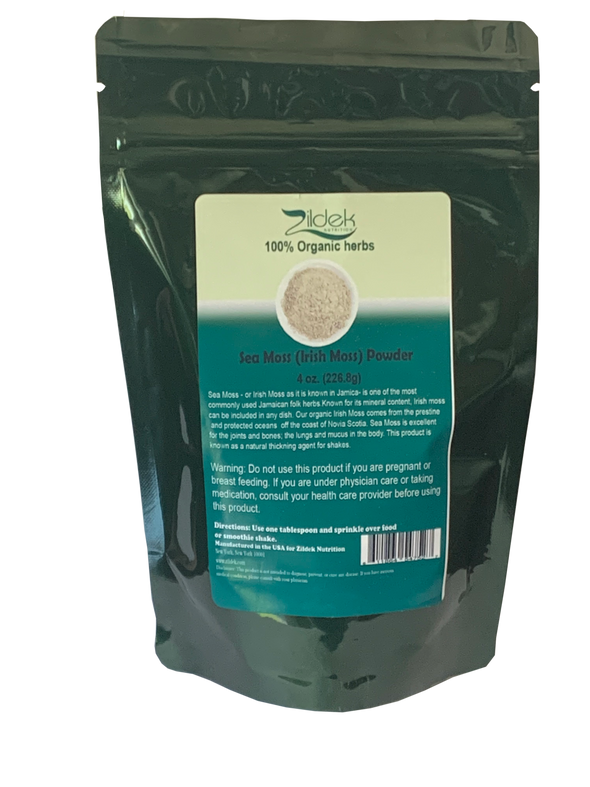 Sea Moss/ Irish Moss Powder 4 oz Pouch