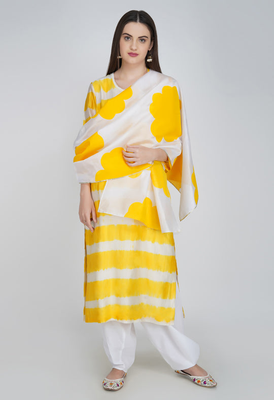 Yellow Tie and Dye Kurta