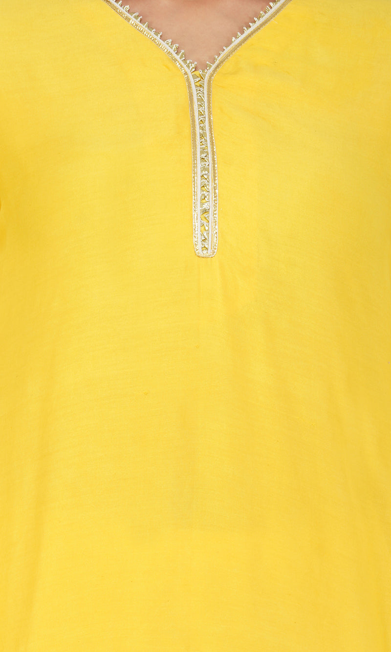 Yellow Scalloped Suit - Set of 3