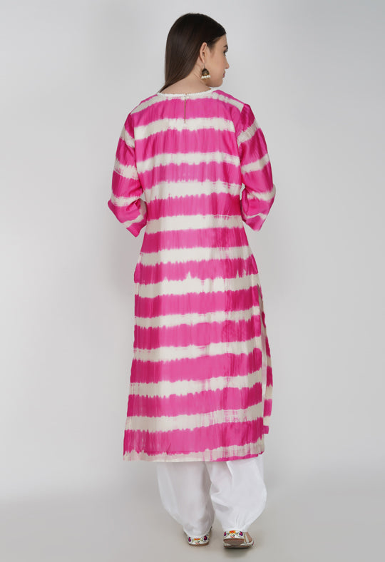 Pink Tie and Dye Kurta