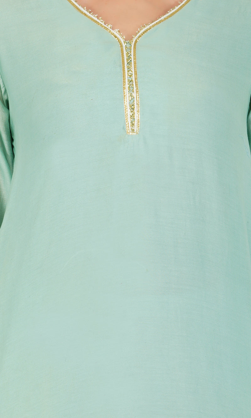 Teal Scalloped Suit - Set of 2