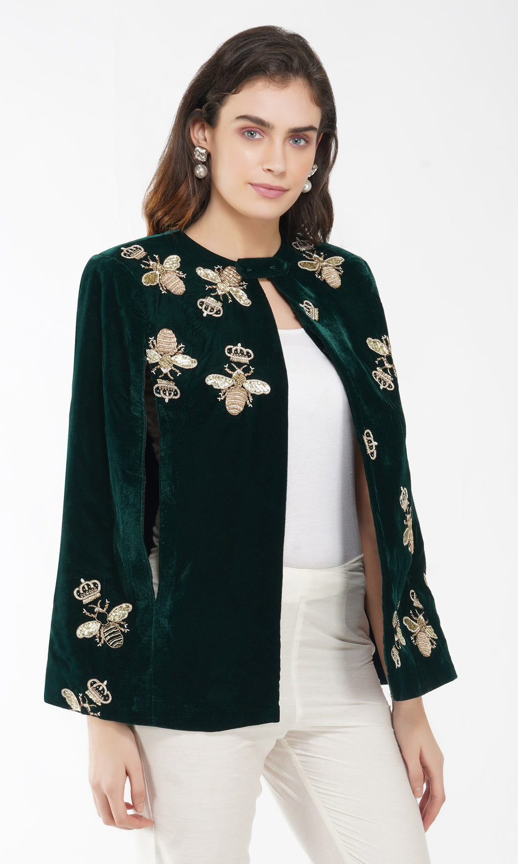 Dragonfly Embroidered Cape