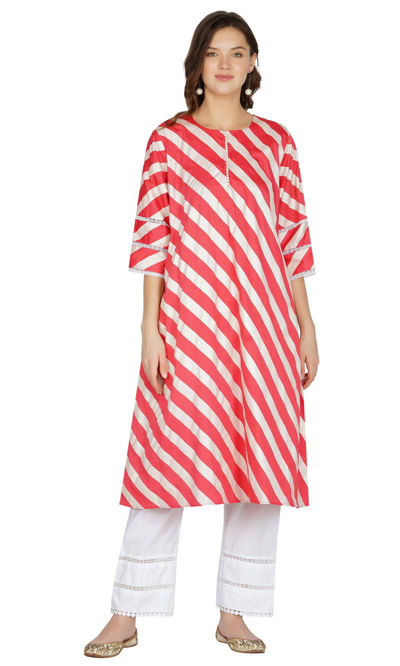 Red Striped Suit- Set of 3