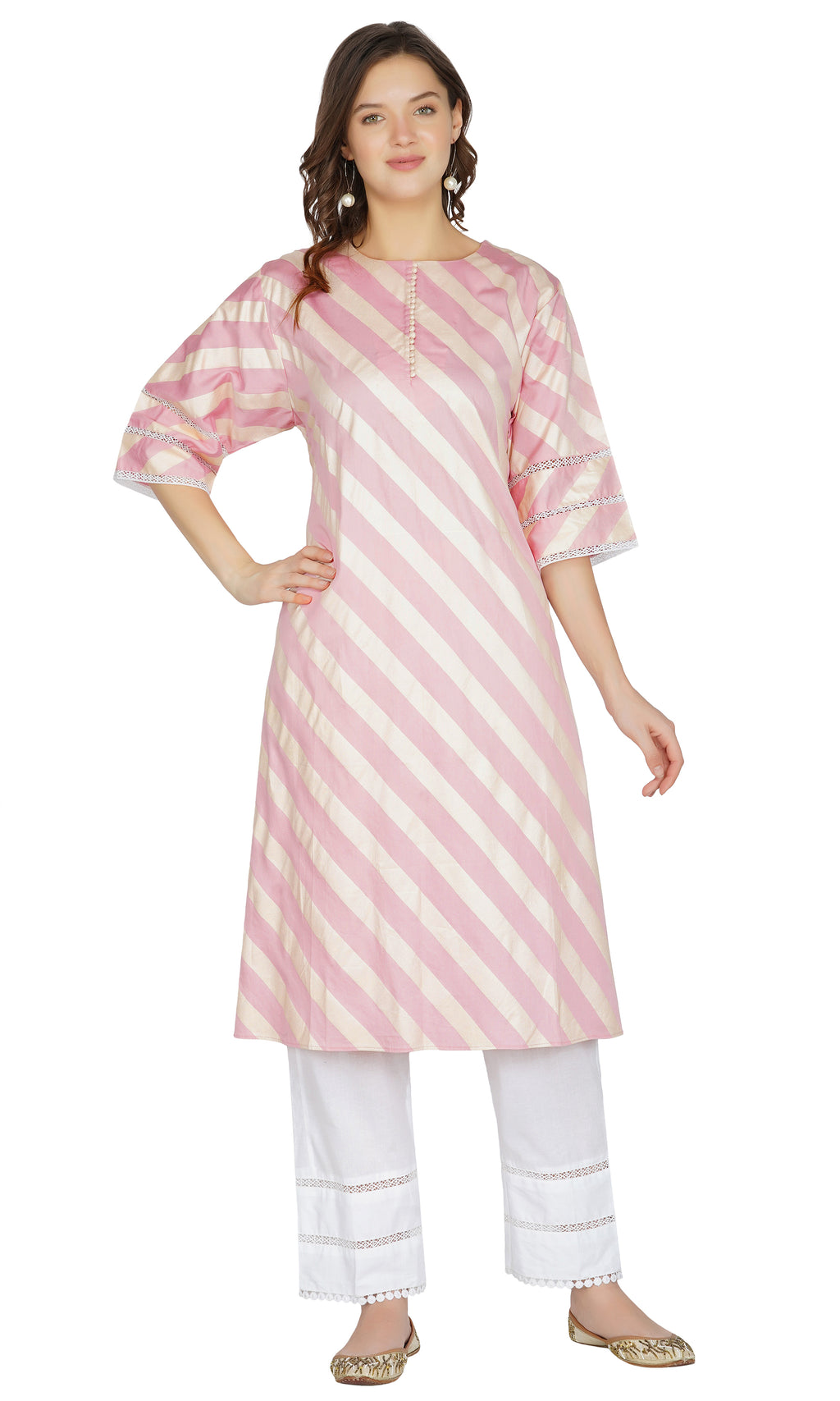 Pink Striped Suit- Set of 3
