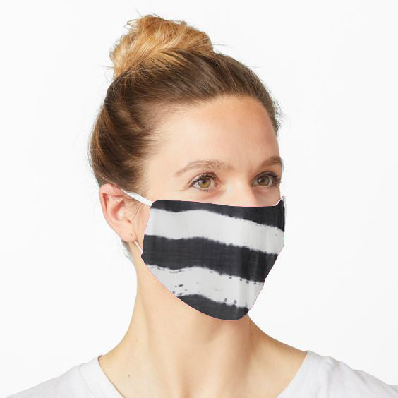 Double Layered Reusable Face Mask- Black Tie and Dye