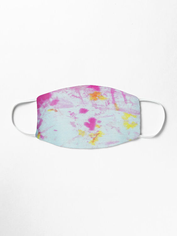 Double Layered Reusable Face Mask- Blue Marble Dye