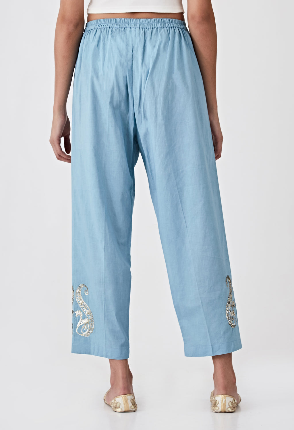 Sequins Pants - Blue