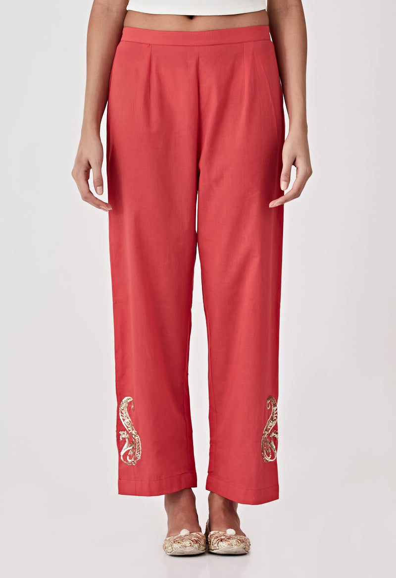 Sequins Pants - Red