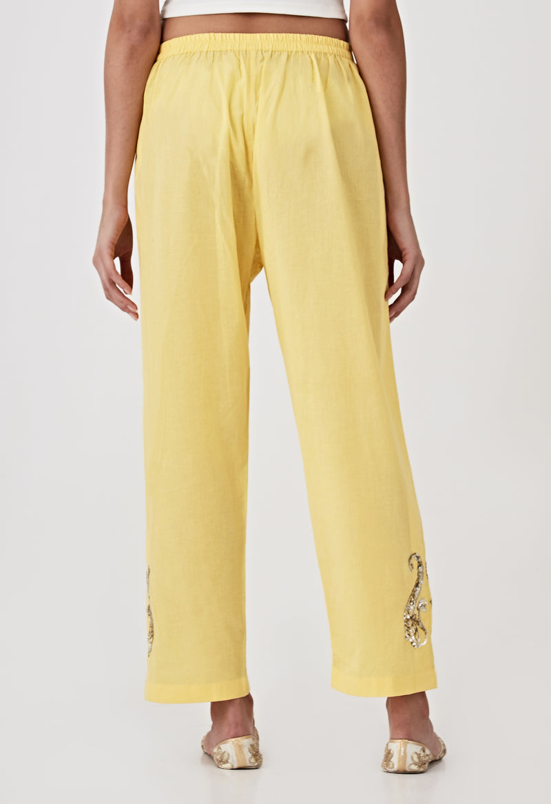 Sequins Pants - Yellow