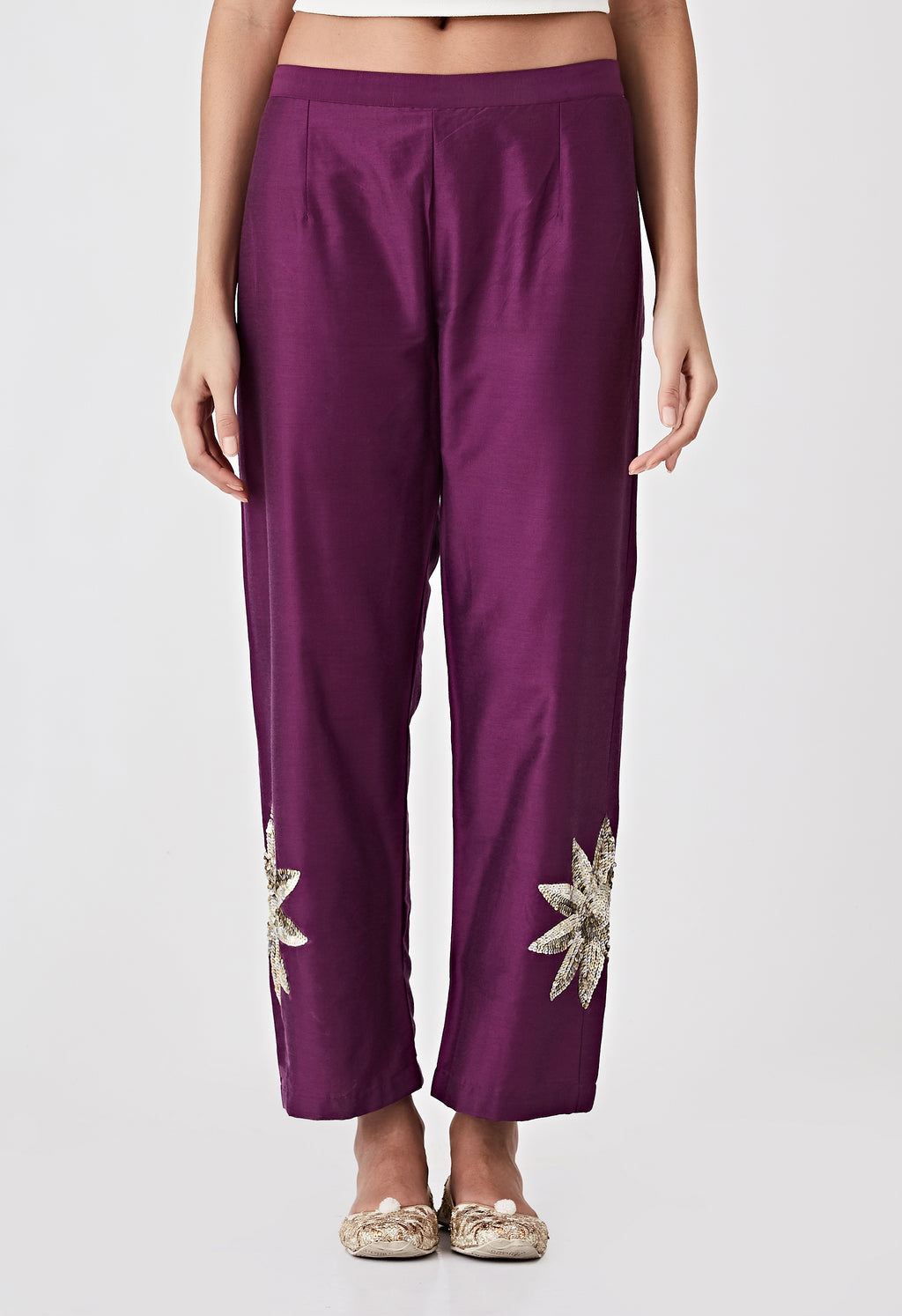 Sequins Pants - Purple