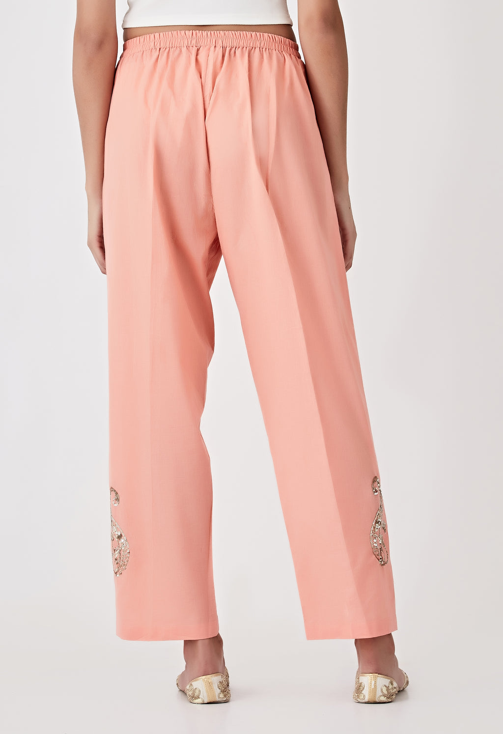 Sequins Pants - Peach