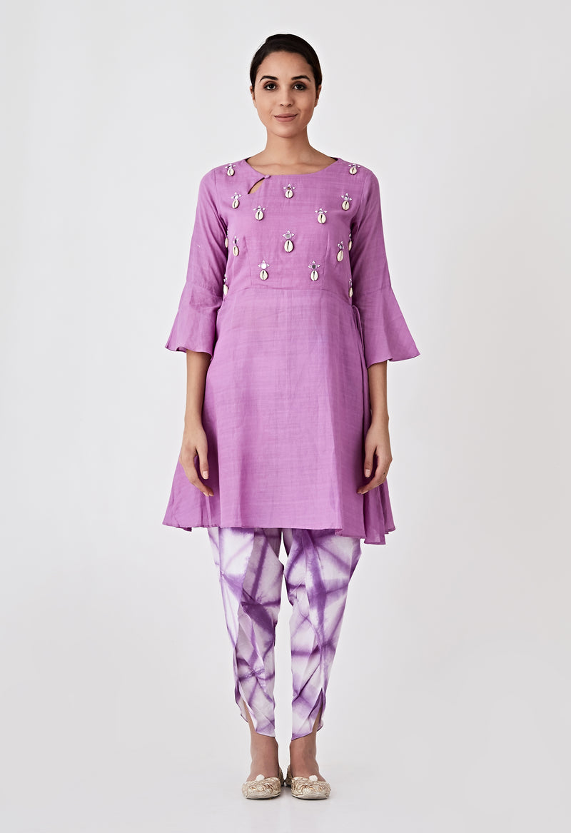 Kori Embroidered Set - Purple