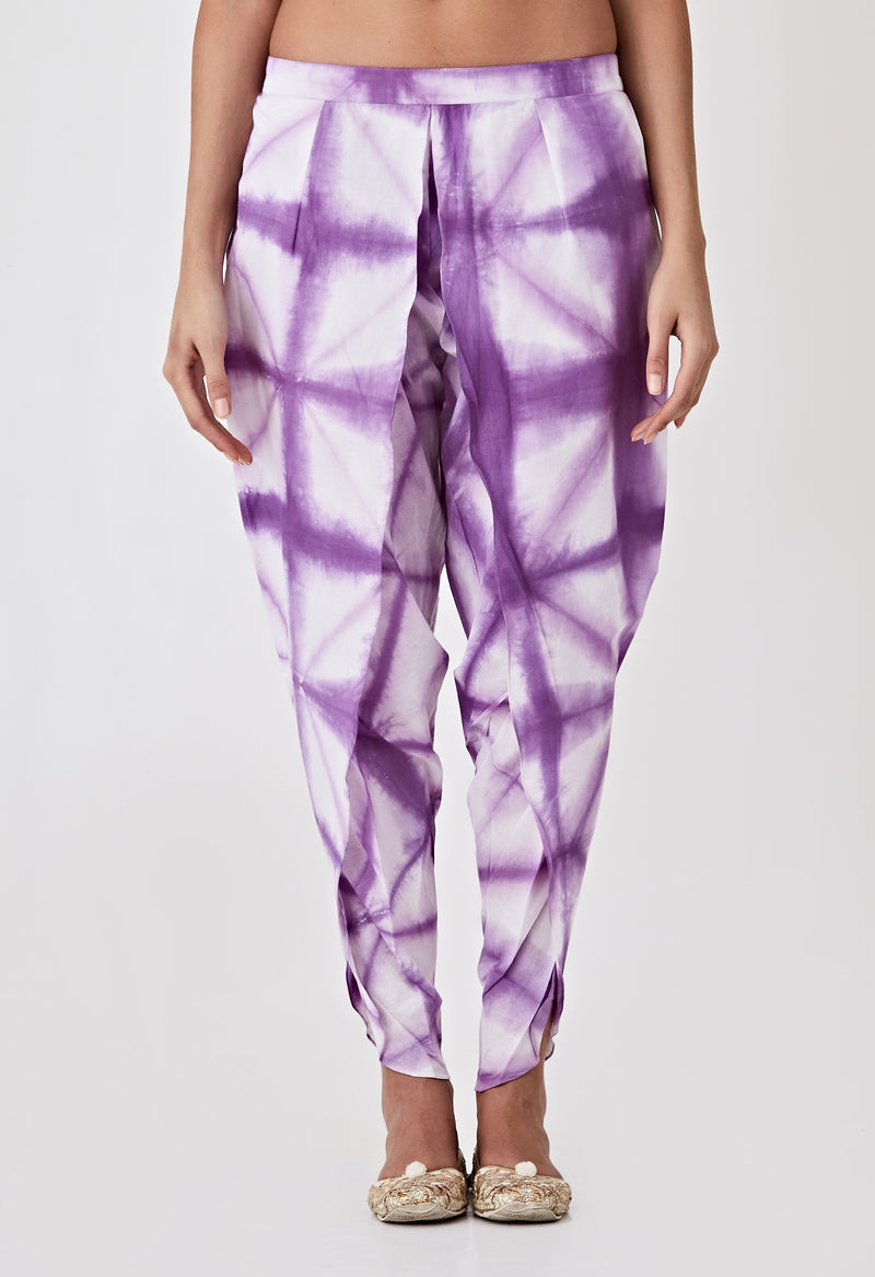 Tie & Dye Dhoti Pants - Yellow