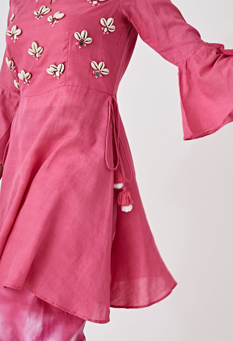 Kori Embroidered Set - Pink