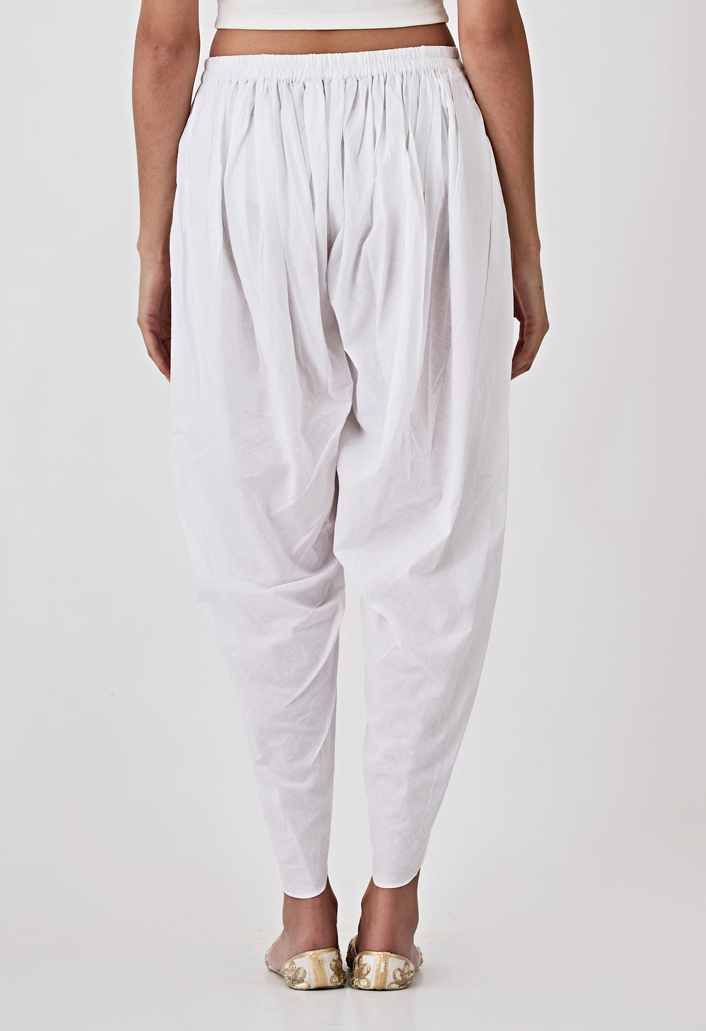 Dhoti Pants - White
