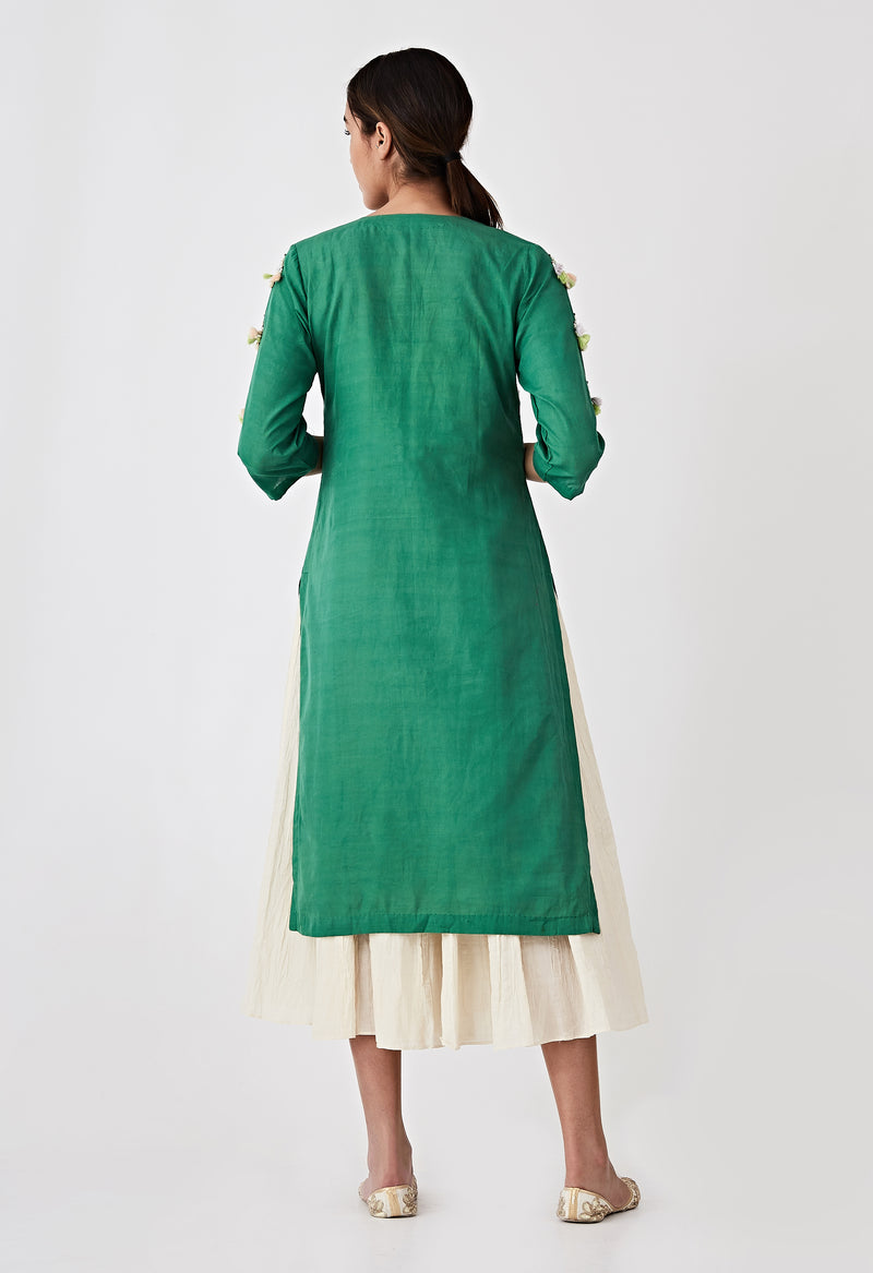 Kori Layer Kurta Set - Green