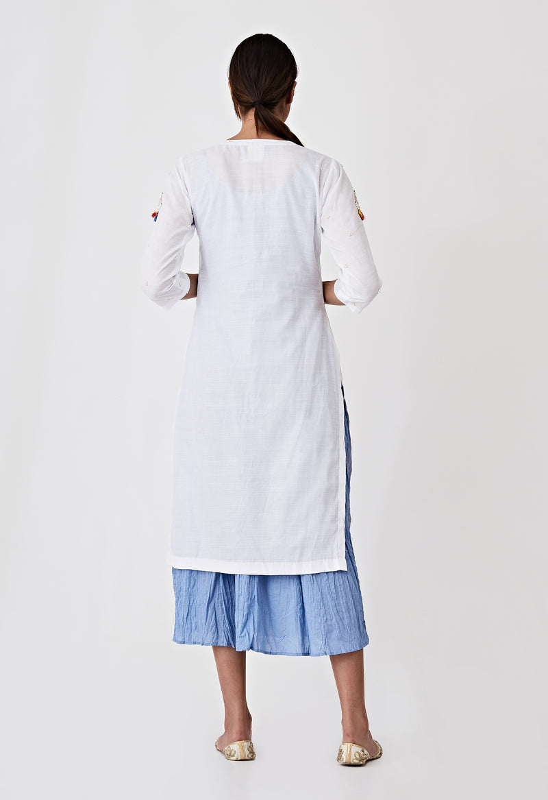 Kori Layer Kurta Set- White
