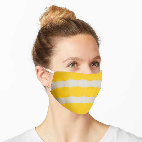 Double Layered Reusable Face Mask- Yellow Tie and Dye