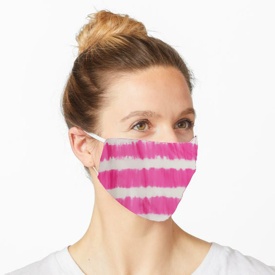 Double Layered Reusable Face Mask- Pink Tie and Dye