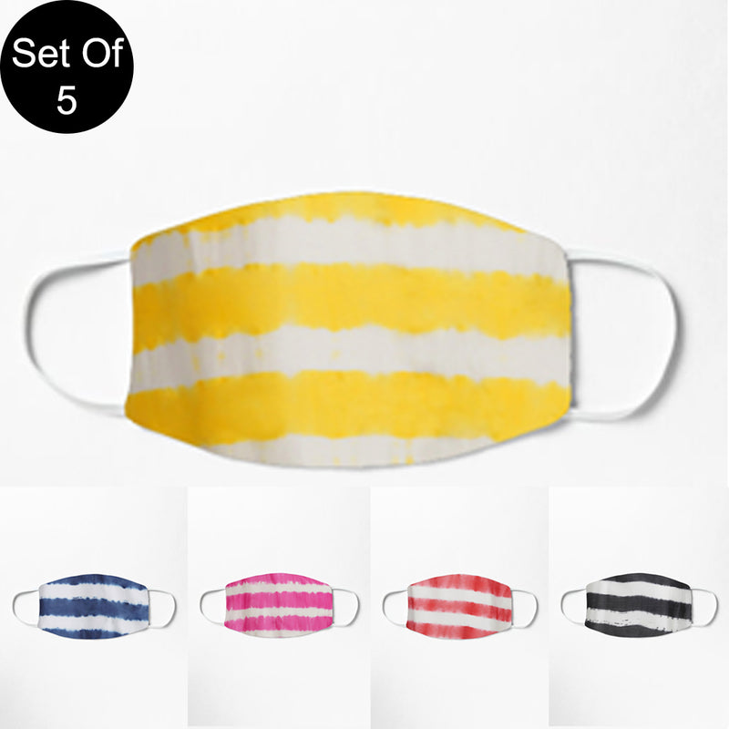 Double Layered Reusable Face Mask- Set of 5