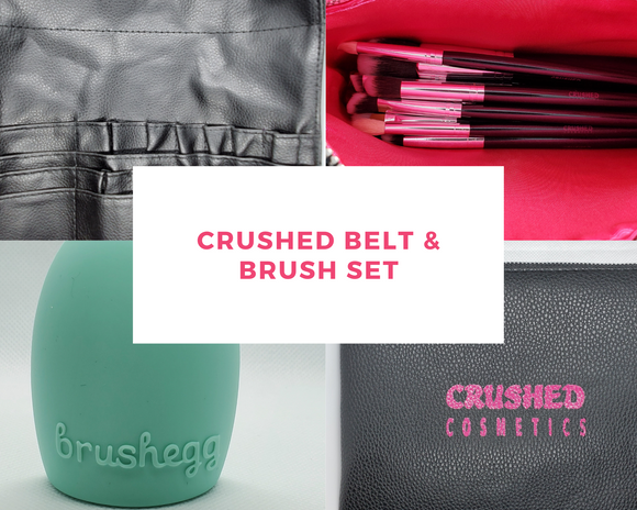 Crushed Tool Belt & Brush Set