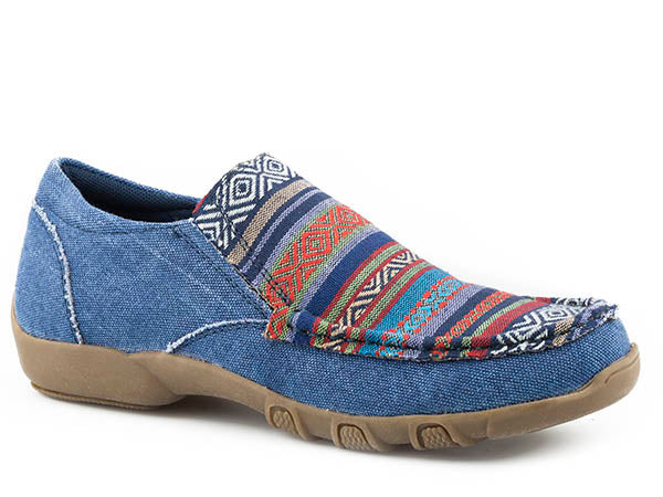 'Roper' Women's Driving Moccasin - Blue / Multi
