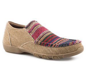 'Roper' Women's Driving Moccasin - Tan / Multi