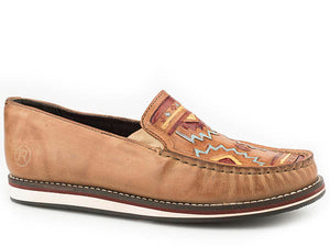 'Roper' Women's Pocahontas Leather Moccasin - Tan