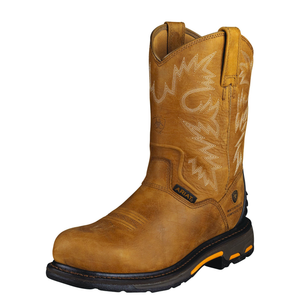 'Ariat' Workhog RT Composite Toe Waterproof Boot - Rugged Bark / Tan