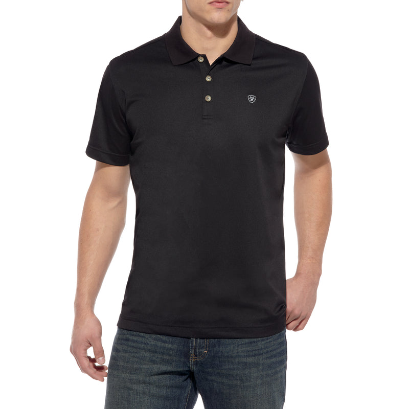 'Ariat' Men's Tek Polo - Black