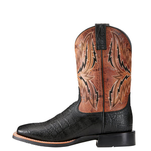 "'Ariat' Men's 11"" Arena Rebound Square Toe - Black / Tan"